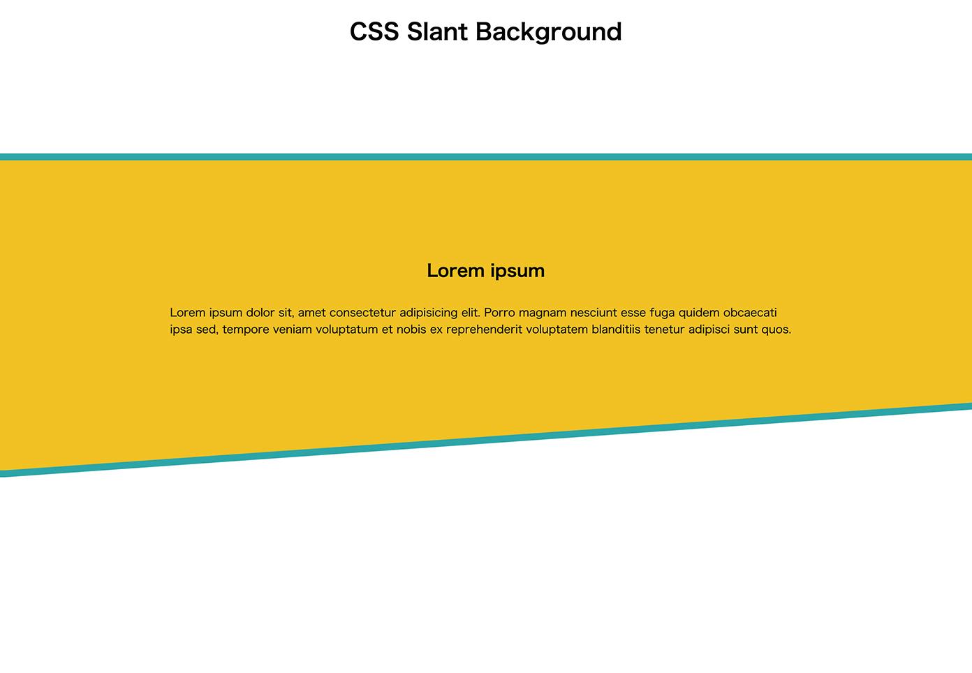 clip-path:polygonを使って斜めにした背景をアレンジして色の違う斜め背景を重ねた状態