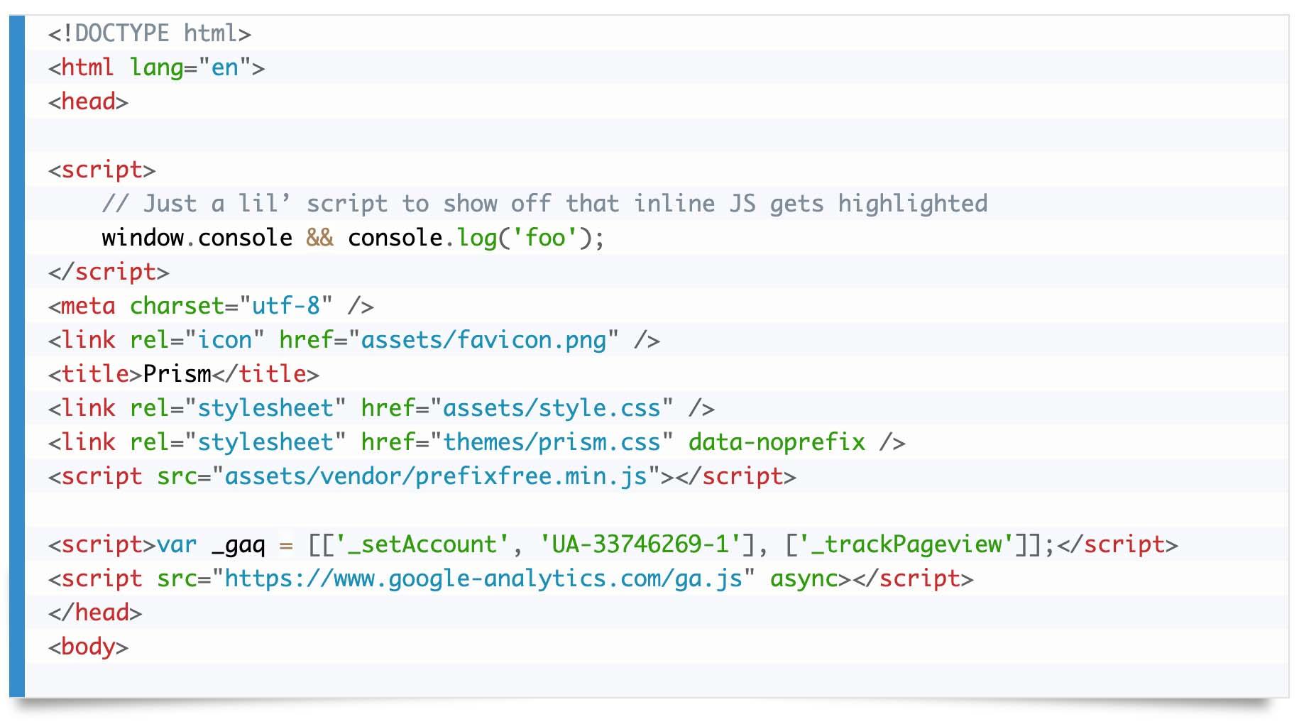 Prism.jsでCoyのテーマを選択した際のコード表示