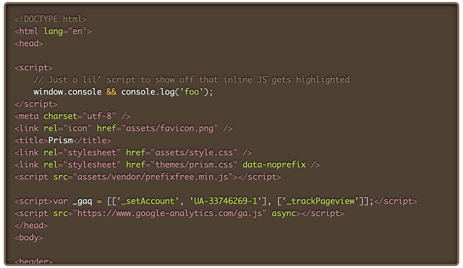 Prism.jsでDarkのテーマを選択した際のコード表示